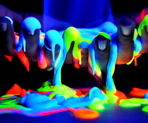 neon, colors, and hands image