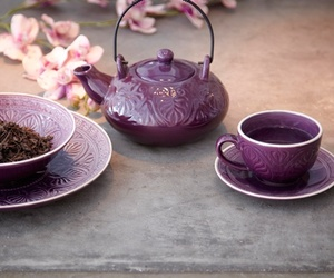 tea and purple image