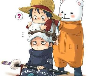 one piece, bepo, and Law image