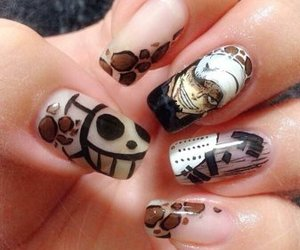 one piece, trafalgar law, and nails image