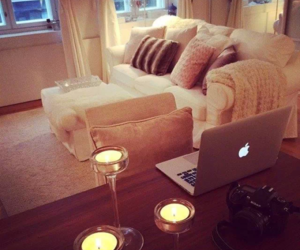 apple, home, and candle image
