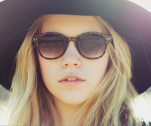 girl, blonde, and hat image
