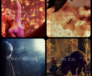 brave, coldplay, and tangled image