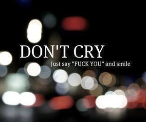 cry, dontcry, and reality image