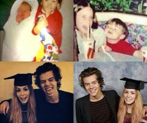 one direction, Harry Styles, and gemma styles image