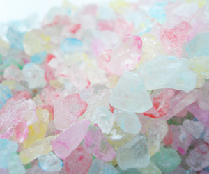 candy, cristals, and pastel image