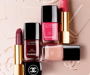 beauty, lipstick, and nailpolish image