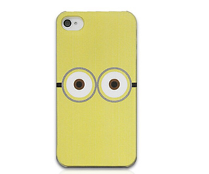 cover, iphone, and minion image