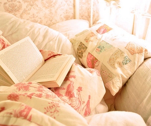 bed, book, and fashion image
