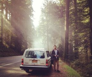 forest, him, and roadtrip image
