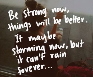 strong, quote, and rain image