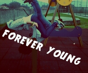 forever, quote, and young image