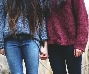 friends, sweater, and jeans image