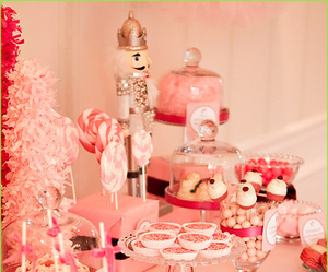 holiday decor, dessert tables, and nutcracker party theme image