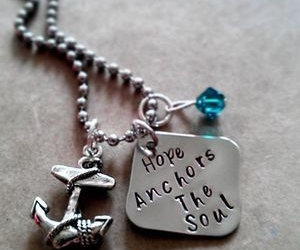 jewelry, anchor, and necklace image