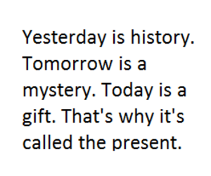 present, yesterday, and gift image