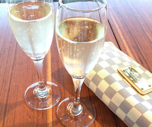 bag, champagne, and expensive image