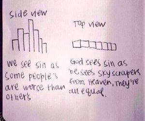 god, sin, and equal image
