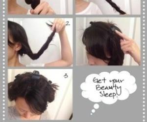 hair, curls, and diy image