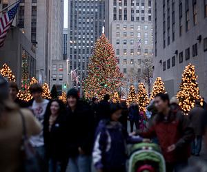 christmas, light, and new york image
