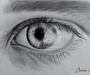 beautiful, hand drawings, and eye image