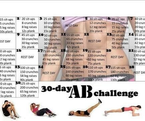 exercise, workout, and abchallenge image