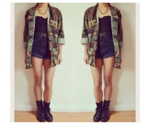 army, camo, and denim image
