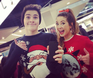 zoella, jack harries, and christmas image