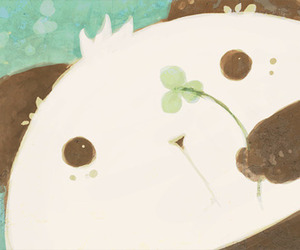 bear, cute, and clover image