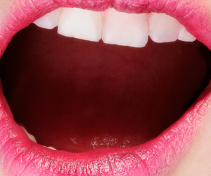 closeup, mouth, and pink image