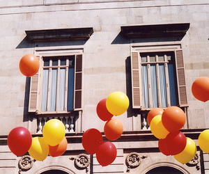 balloons, vintage, and red image