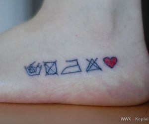 awesome, heart, and tattoo image