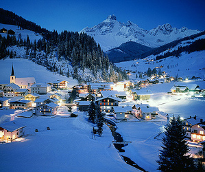 snow, austria, and winter image