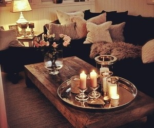 candle, home, and room image