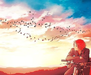 anime boy and boy red hair image