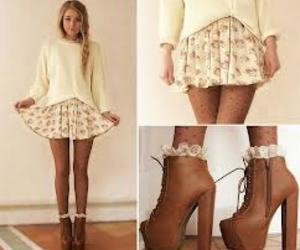 brown, fashion, and stockings image
