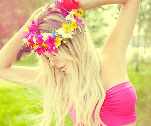 blondie, girl, and pink image