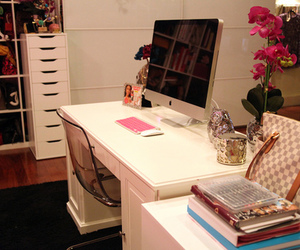 room, computer, and apple image