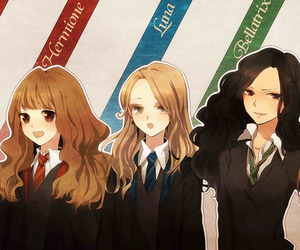 harry potter, bellatrix, and hermione image