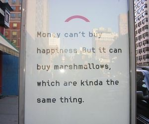 marshmallow, happiness, and money image