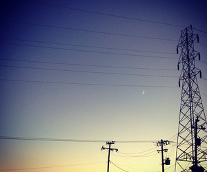 moon, sky, and star image
