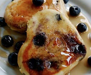 berries, pancakes, and blueberries image