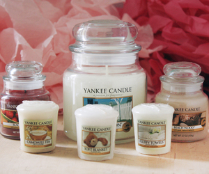 yankee candle, bougies, and love image