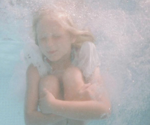 girl, pastel, and water image