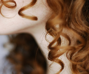 hair, curls, and red hair image