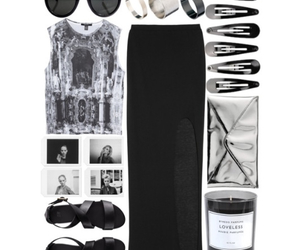 black and white, candle, and casual image