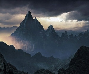 mountains and clouds image