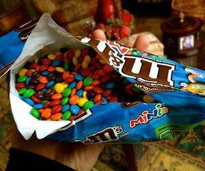 food, chocolate, and m&m's image