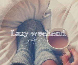 Lazy, weekend, and coffee image