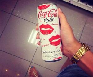 coca cola, kiss, and red image